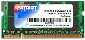 2GB DDR2 800MHz S.O. DIMM (200pin) Patriot