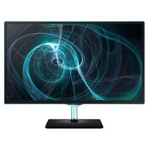 """27"""" LCD Samsung T27D390, PLS LED, 1920x1080, 5ms, MEGA kontrast, 2xHDMI, USB, PIP, DVB-T/C, CI, Repro, lesklý černý"""
