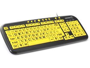 CONNECT IT CI-44 kontrastní klávesnice pro děti/seniory, USB