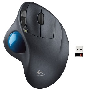 Logitech Trackball Wireless M570, USB, unifying přijímač