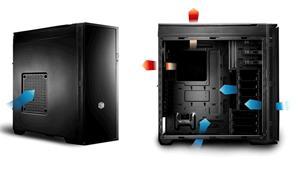 CoolerMaster case miditower Centurion Silencio 652S ATX,black, USB3.0, SD čtečka, bez zdroje, odhlučněný