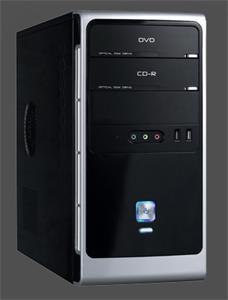 Eurocase micro tower case MC 32 EVO black/silver, bez zdroje, mATX, USB3.0