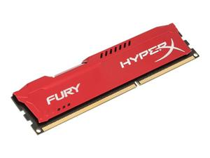 4GB DDR3 1600MHz DIMM Kingston HyperX FURY Red CL10