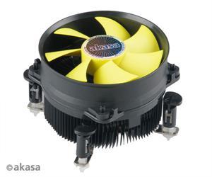 Chladič AKASA AK-CC7117EP01 pro LGA775, LGA1150/1155/1156, 92mm low noise PWM fan