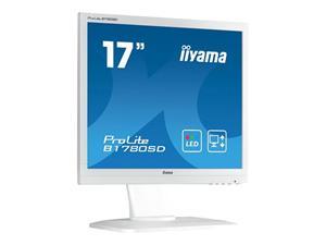 """17"""" Iiyama LCD LED ProLite B1780SD-B1 1280x1024,5ms,VGA,DVI,repro,pivot,bílá"""