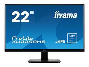 """21.5"""" Iiyama LCD LED IPS ProLite XU2290HS-B1 1920x1080 FHD,5ms,VGA,DVI,HDMI,repro,ultra slim,černá"""