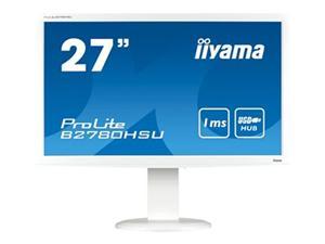 "27"" Iiyama LCD LED ProLite B2780HSU-W1 1920x1080 FHD,1ms,VGA,DVI,HDMI,USB,repro,pivot,bílá"