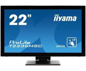 """21.5"""" Iiyama LCD LED IPS ProLite T2236MSC 1920x1080 FHD,Multitouch,12ms,VGA,DVI,HDMI,repro,USB,černá"""