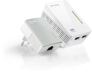 TP-LINK TL-WPA4220KIT Powerline Starter Kit TL-WPA4220+TL-PA4010, AV500 500Mbps Homeplug WiFi