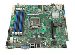 Intel Server MB Rainbow Pass DBS1200V3RPM,LGA1150,C226,2xGbe,VGA,1xPCI-E,6xSATA3/R,4x DDR3L/1600,mATX