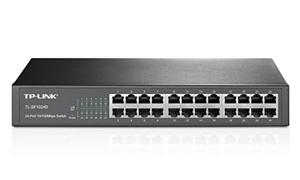 "TP-LINK TL-SF1024D Switch 24x 10/100Mbps, 13"" rack, kovový"