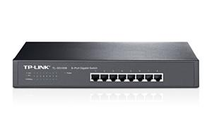 "TP-LINK TL-SG1008 Gigabit Switch 8x 10/100/1000Mbps, 13"" rack, kovový"