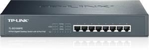 "TP-LINK TL-SG1008PE Gigabit Switch 8x 10/100/1000Mbps, 8x PoE, 13"" rack, kovový"