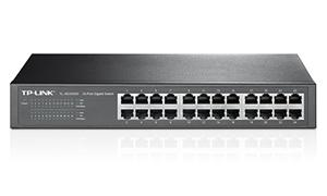 "TP-LINK TL-SG1024D Gigabit switch 24x 10/100/1000Mbps, 13"" rack"