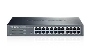 "TP-LINK TL-SG1024DE Gigabit Easy Smart Switch 24x 10/100/1000Mbps, MTU/Port/Tag-based VLAN, 13"" rack, kovový"