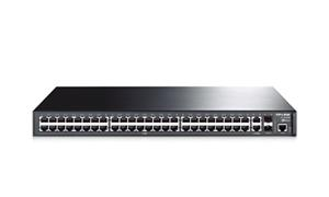 "TP-LINK TL-SL3452 Managed Switch 48x 10/100/100Mbps+2x 10/100/100Mbps+2x Gbit SFP Combo, 19"" rack"
