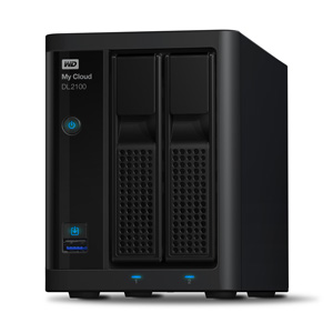 "WD My Cloud DL2100 NAS bez HDD 2x 3.5"" Raid, 2x GLAN (RJ45), 2x USB 3.0"