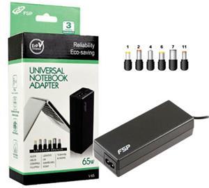 Napájecí adaptér k notebooku, Fortron FSP NB V65, 65W, 19V, 6 koncovek