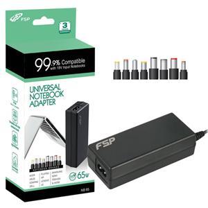 Napájecí adaptér k notebooku, Fortron FSP NB 65 CEC, 65W, 19V, 8 koncovek