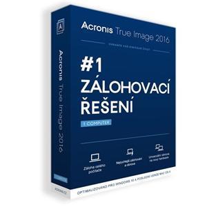 Acronis True Image 2016 - 1 Computer BOX CZ