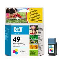 HP inkoustová cartridge barevná 51649AE, č. 49