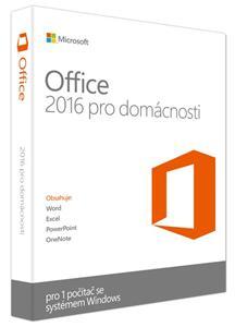 Microsoft Office 2016 pro domácnosti WIN CZ