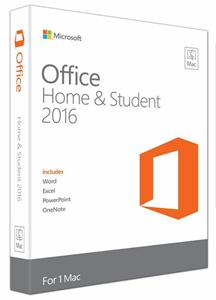Microsoft Office Mac Home and Student 2016 Eng