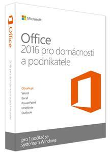 Microsoft Office 2016 pro domácnosti a podnikatele Win Eng