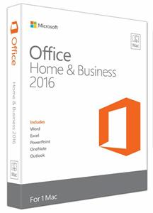 Microsoft Office Mac Home and Business 2016 Eng
