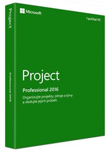 Microsoft Project Pro 2016 Win CZ Medialess