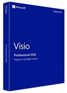 Microsoft Visio Pro 2016 Win CZ Medialess