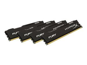 16GB (4x4GB) Kit DDR4 2666MHz DIMM Kingston HyperX FURY Black CL15