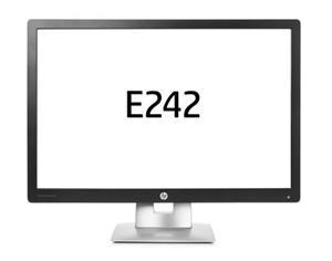 "24"" wide LCD LED IPS HP EliteDisplay E242, 1920x1200, HDMI1.3, DP1.2, VGA, USB2.0 HUB (x2)pivot"