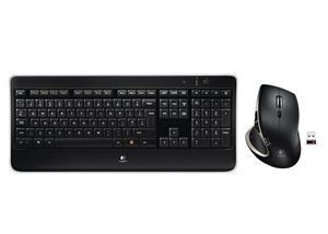 Logitech Wireless set MX800/ bezdrátová klávesnice + myš/ USB/ UK/ černá