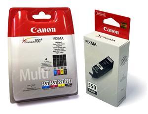 Canon inkoustová cartridge Black PGI-550 PGBk+CLI551 C/M/Y/BK/GY (Mulitipack) pro MG5450/MG5550/MG6350/MG/6450/ip7250