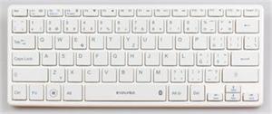 EVOLVEO WK29W Bluetooth klávesnice, BT 3.0, bílá