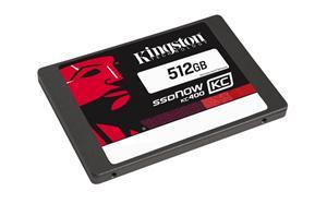 """Kingston SATA3 2.5"""" SSD disk 512GB SSDNow KC400, čtení 550MB/s, zápis 530MB/s, výška7mm, Upgrade bundle kit"""