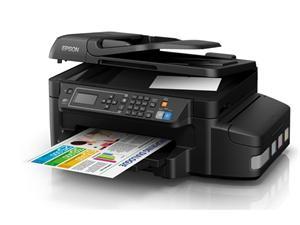 Epson L655/MFZ /ADF/ Fax/ LCD, A4, 4800x1200dpi,4 int.tankový systém náplní, 33/20 černě/barevně /Duplex/LAN/Wifi/USB