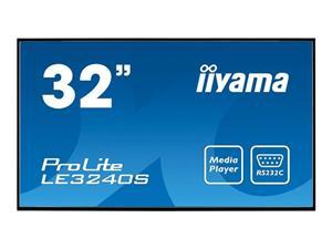 """32"""" Iiyama LCD LED IPS LE3240S-B1 1920x1080,8ms,350cd/m2,VGA,DVI,HDMI,repro,černá"""