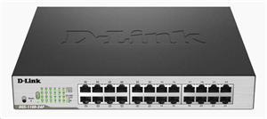 D-LINK DGS-1100-24P, 24-port Gigabit EasySmart Switch, 12x PoE