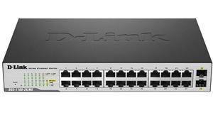 D-LINK DGS-1100-26MP, 24-port PoE Gigabit + 2x SFP EasySmart Switch