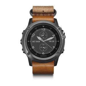 Garmin Garmin fenix3 Sapphire (kožený řemínek šedá), outdoorové hodinky