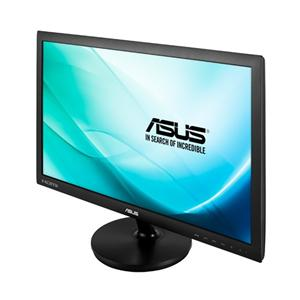 """24"""" ASUS LCD LED VS248HR, Wide 1920x1080,VGA,DVI,HDMI,1ms,250cd/m2, 80mil.:1,repro,černá"""