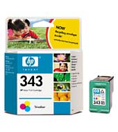 HP inkoustová cartridge barevná C8766EE, č. 343