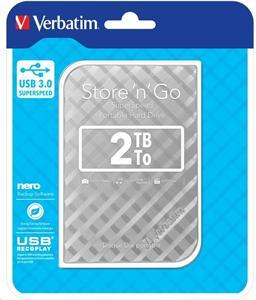 """VERBATIM 2TB Externí HDD 2.5"""", GEN II, USB 3.0, 8MB cache, stříbrný"""