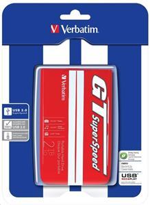 "VERBATIM 2TB Externí HDD 2.5"", GT SuperSpeed, USB 3.0, 8MB cache, červený"