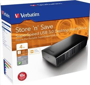 """VERBATIM 4TB Externí HDD 3.5"""", USB 3.0, 16MB cache"""
