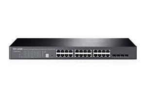 "TP-LINK T1700G-28TQ Gigabit JetStream Smart Switch 24x 10/100/1000Mbps+4x SFP Combo, 19"" rack"