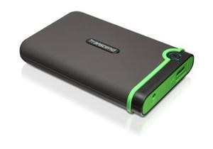 """Transcend StoreJet 25M3 500GB ext. HDD 2.5"""" USB 3.0, Anti-Shock, šedo/zelený"""