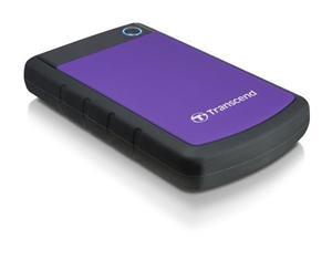"""Transcend StoreJet 25H3P 500GB ext. HDD 2.5"""" USB 3.0, Anti-Shock, černo/fialový"""